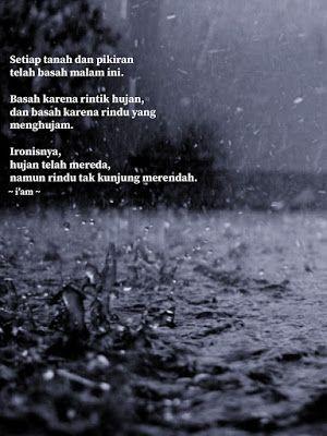 a poem a night hujan dan rindu hujan kata kata indah kutipan