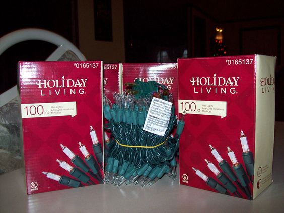 New In Box  5 100 Clear,Green Wire Mini Christmas/Wedding Lights Indoor/Outdoor