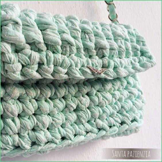 Knit your own T-shirt yarn bag  | Santa Pazienzia