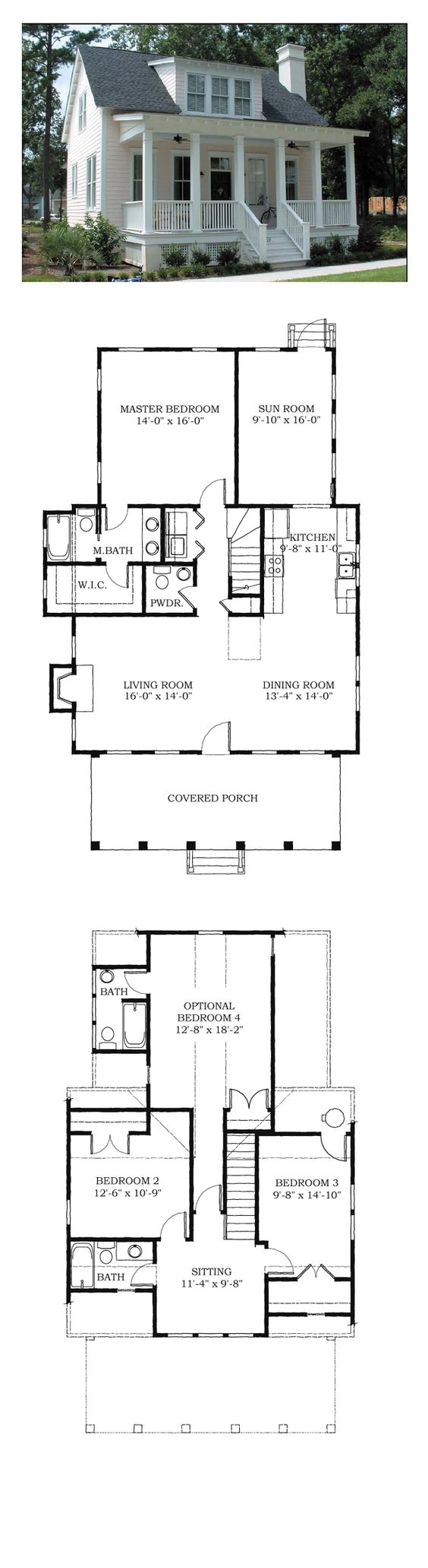 COOL House Plan ID: chp-38703 | Total Living Area: 1783 sq. ft., 4 bedrooms and 3.5 bathrooms. #houseplan #carolinahome