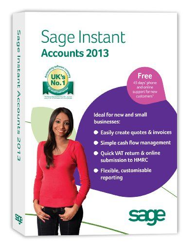Sage Instant Accounts 2013 (PC) - http://www.cheaptohome.co.uk/sage-instant-accounts-2013-pc/