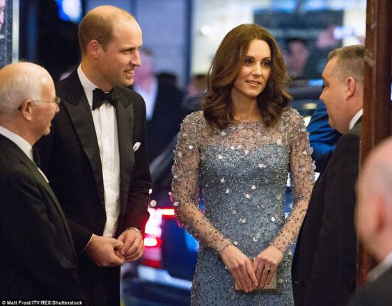 The Duchess, wearing a sparkling Jenny Packham gown, and Duke, in black tie, went straight...