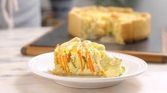 torta espiral de legumes - YouTube