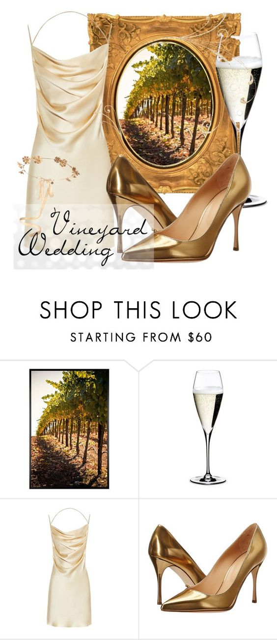 """""""Champagne love."""" by goldenopal ❤ liked on Polyvore featuring Pottery Barn, Riedel, Yves Saint Laurent, Sergio Rossi and Eugenia Kim"""