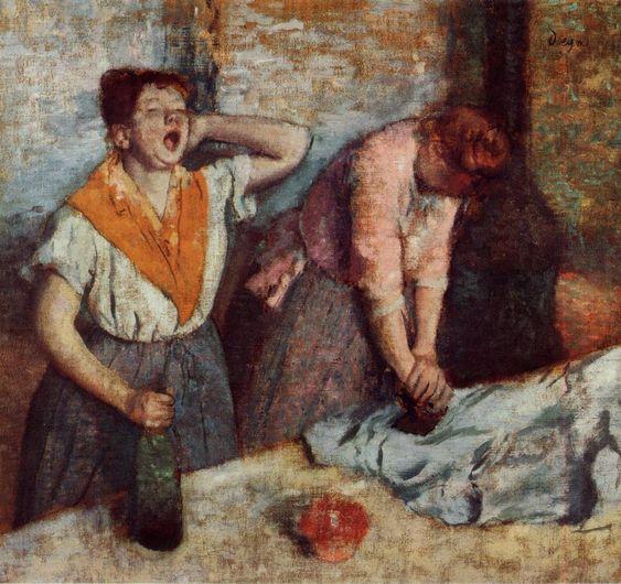 Edgar Degas - Blanchisserie filles de repassage