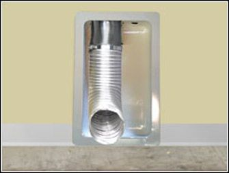 Recessed Dryer Vent Box Allows The Dryer To Be Pushed