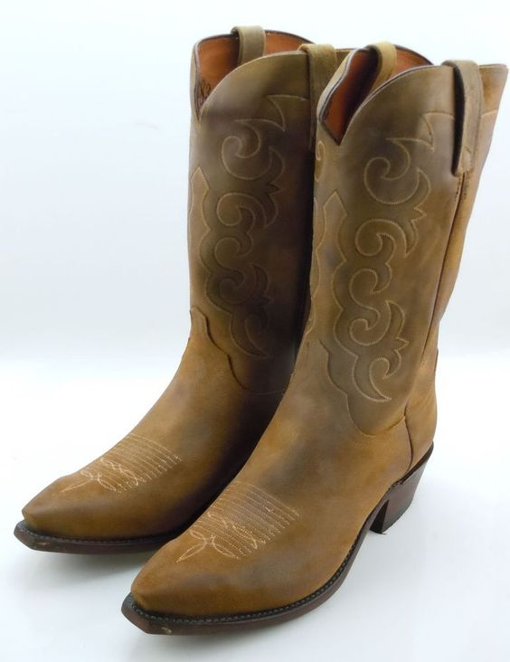 Lucchese NV1502 54 Mens Sand Tan Burnished Western Cowboy Boots ...