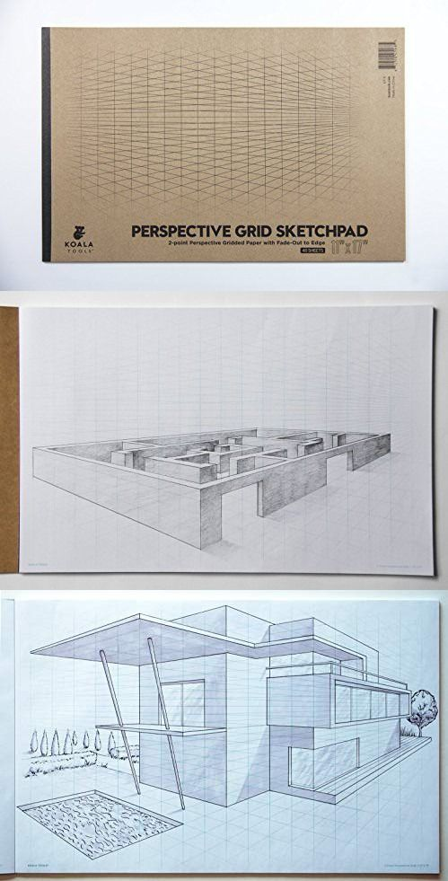Koala Tools Drawing Perspective 2 Point Large Sketch Pad 11