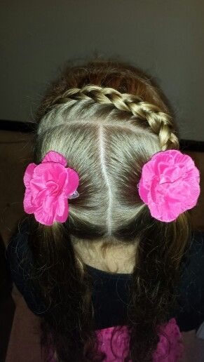dutch braid into pigtails ♡