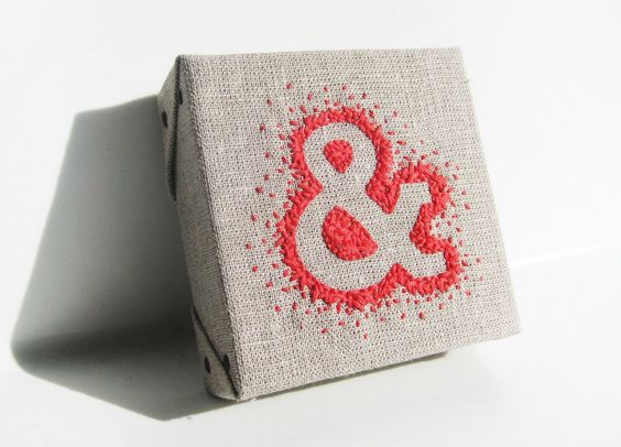 stitched ampersand