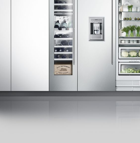 Superb Cooling wall Refrigeration Gaggenau Home style Pinterest Walls Kitchens and Kitchen decor