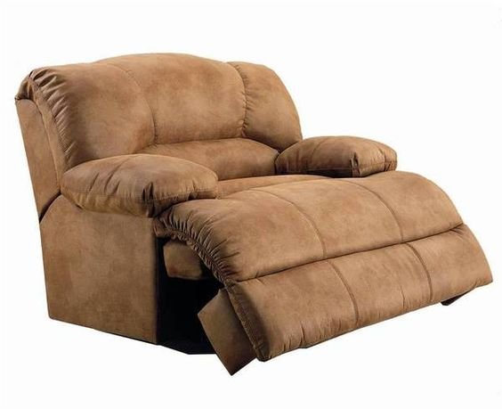 Oversized Microfiber Recliner Because We All Know Andre Would Never Get Off