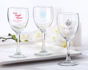 Personalized Wine Glass 8.5 oz at WeddingFavors.org