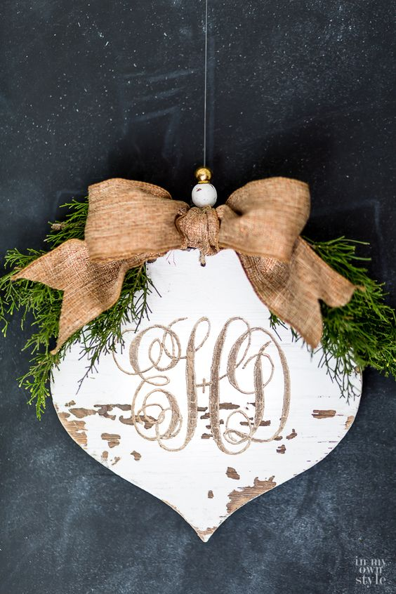 This heirloom Christmas ornament is etched into a wooden ornament - a DIY project for the more ambitious!