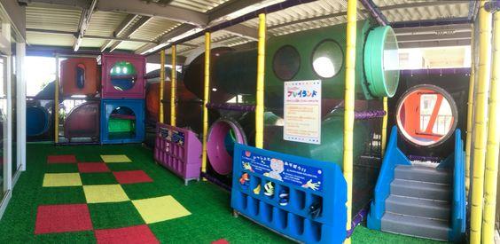 Okinawa Restaurant with Play Area: Uruma McDonalds indoor Playground. Address: 〒904-2215 Okinawa Prefecture, Uruma, Midorimachi, 6 Chome−1−16