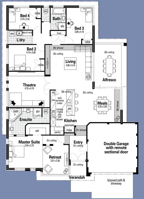 All three bedrooms off a small hallway with a bathroom