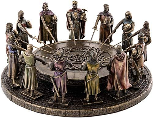 New Top Collection King Arthur Knights Round Table Statue Medieval Camelot Knights Sculpture Premium Cold Cast Bronze 4 5 Inch Collectible Figurine Onli Collectible Figurines Cast Bronze Tapestry Wall Art