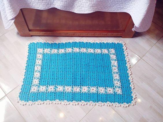 Tapete em crochê com bordado 2/2 - Camilaarts