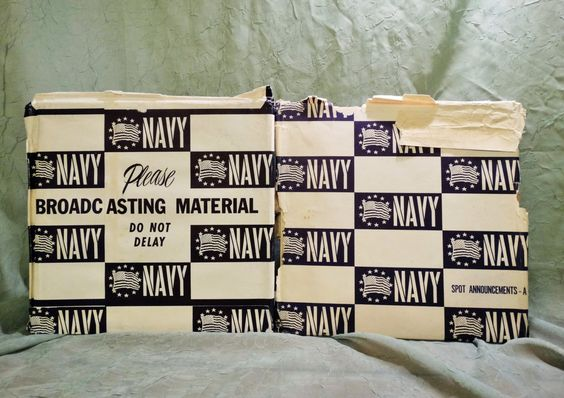 Navy Recruiting - Spot Announcements  Including original script ( Lot of 2 LP / Album ) Vietnam War - Piece of History -Extremely Rare!