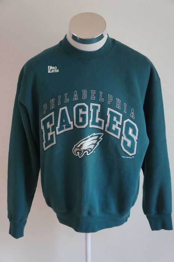 Vintage Pro Player Philadelphia Eagles Men's 90's Green Crew Neck ...