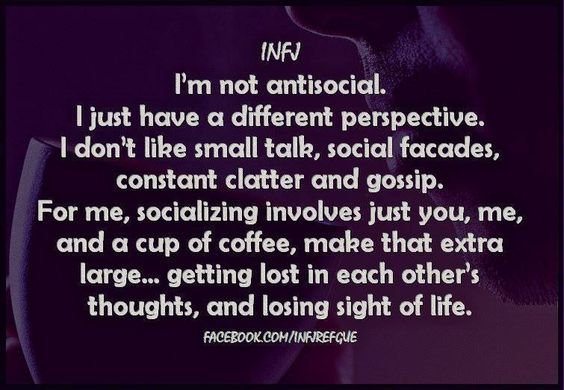 21 signs you're an INFJ personality type {INFJ Refuge images} - Introvert, Dear