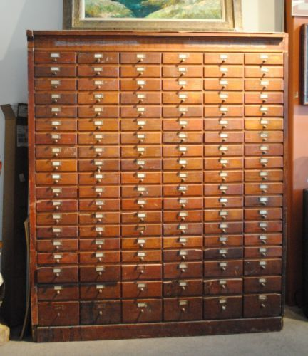 vintage antique 114 drawer hardware general store apothecary wood cabinet antique furniture apothecary general