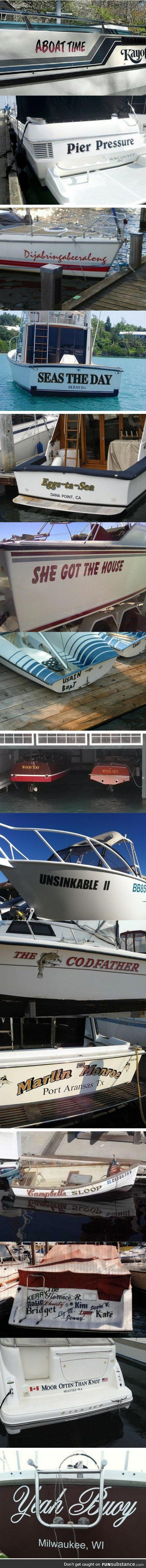 Boats with fairly clever names...