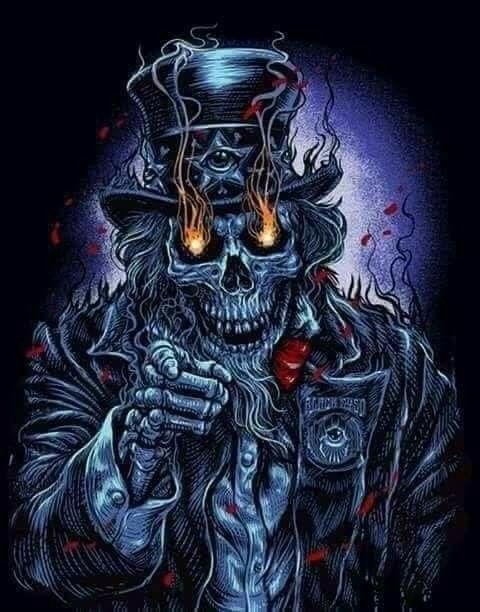 Pin By Bruce Dalton On Grim Reaper Skull Wallpaper Evil Art Scary Art