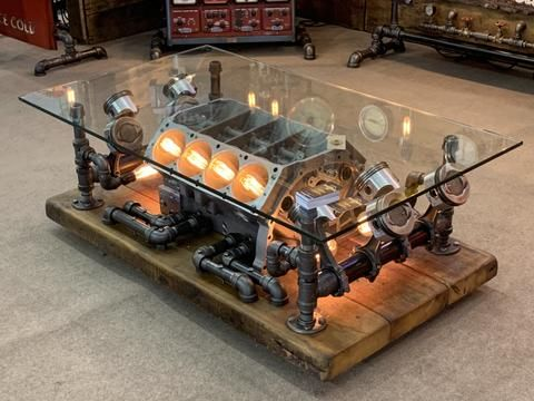 Automotive Free Usa Shipping In 2020 Steampunk Home Decor Steampunk Coffee Table Car Parts Decor