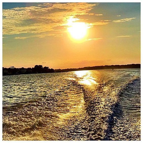 Summer night wake  #sunset #virginiabeach @hortonzrunz @aconrad92212 by ryanpconrad
