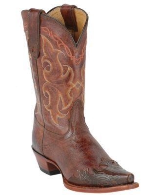 Tony Lama Ladies Vaquero Clay Santa Fe Wingtip Western Boot