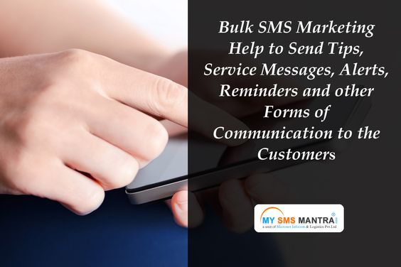 Bulk SMS marketing help to send tips, service messages, alerts, reminders and other forms of communication to the customers across a wide geographical area.  know more details visit : http://www.mysmsmantra.com/