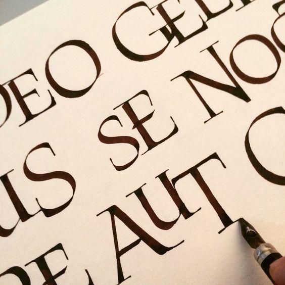 Luca barcellona calligraphy roman caps variations
