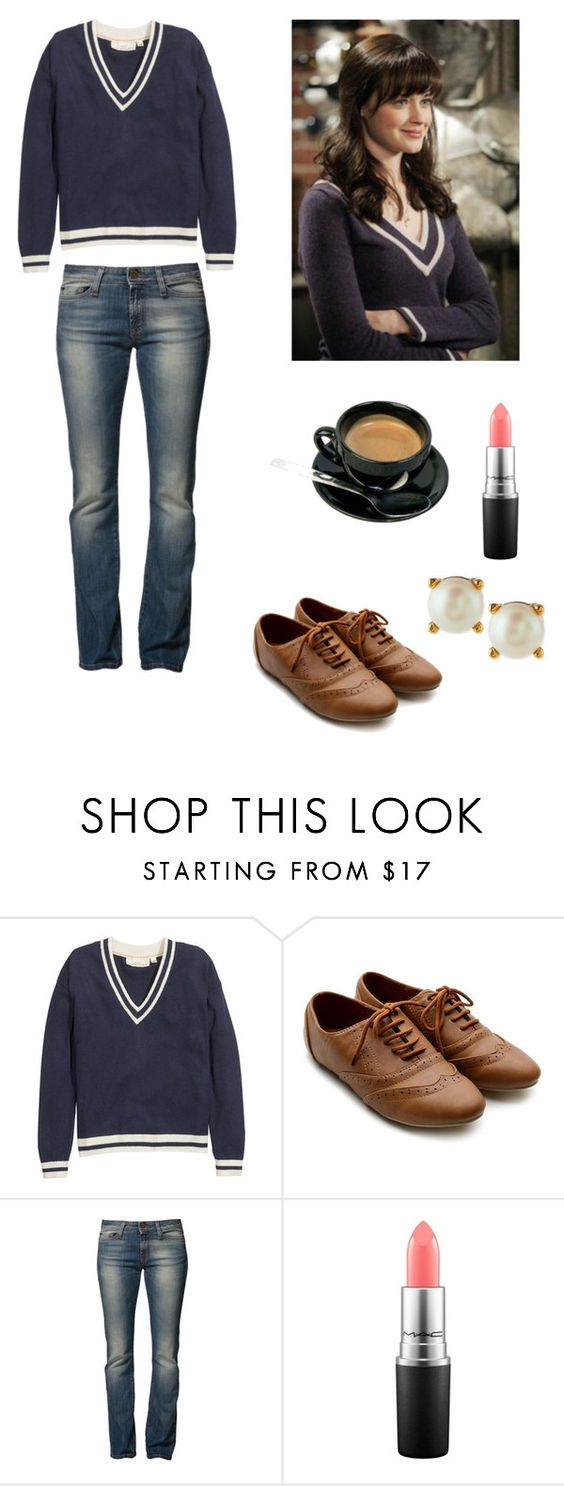 """""""Rory Gilmore"""" by class-and-style ❤ liked on Polyvore featuring H&M, Ollio, Miss Sixty, MAC Cosmetics and Kate Spade"""