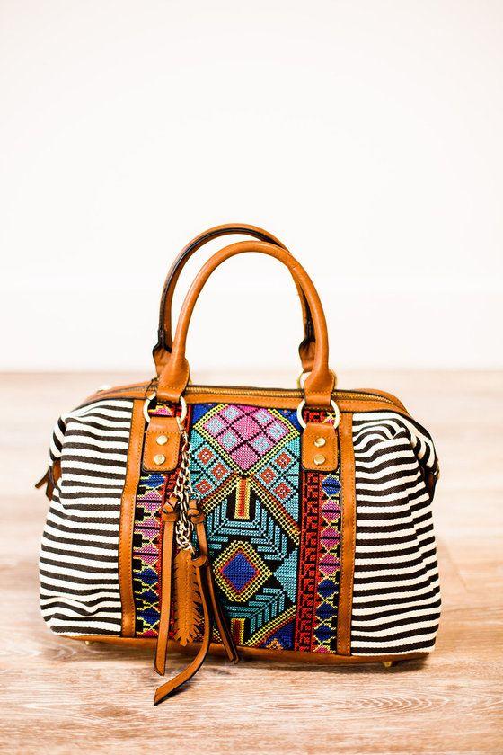 Striped Aztec Handbag