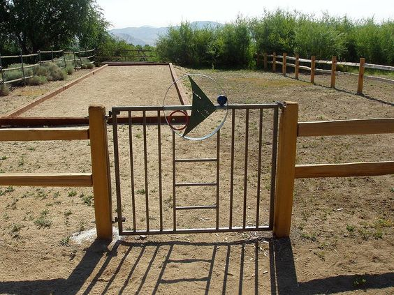 Custom Gate on a Private Estate from Giovanni Designs of Colorado. www.giovannidesigns.info