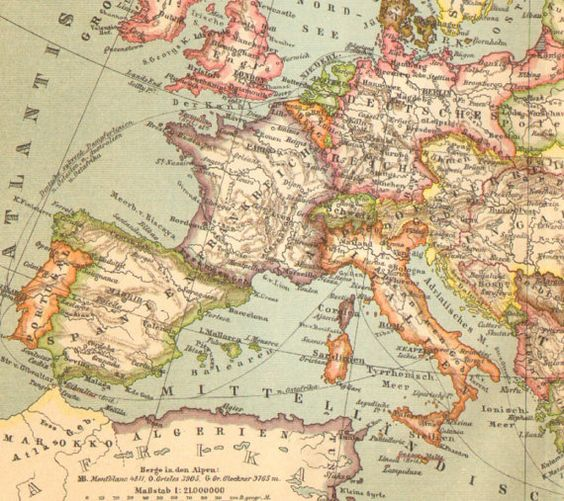 Old Map M�s Storia Pinterest Europe Lets Go And Southern: Old Map Of Europe At Slyspyder.com