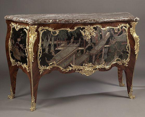 Louis XV Style Coromandel Lacquer Commode / Paul Sormani, France, late 19thC.