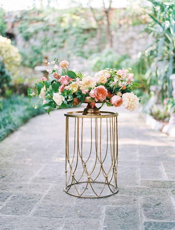 Gorgeous centerpiece   Romantic Tropical Garden Wedding Inspiration Ben Q Photography