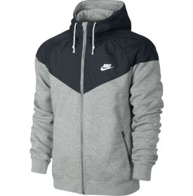 Nike Men's NTF Overlay Fleece Full Zip Running Hoodie - Dick's ...
