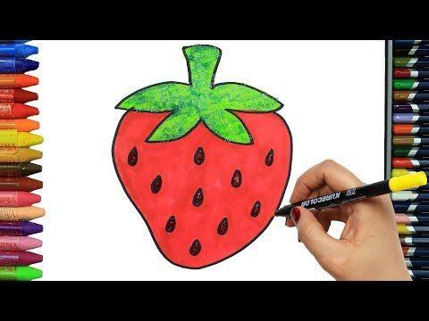 الرسم والتلوين للأطفال كيفية رسم الفراولة فراشة الرسم للأطفال الأطفال ألوان الفيديو Youtube Christmas Ornaments Novelty Christmas Holiday Decor