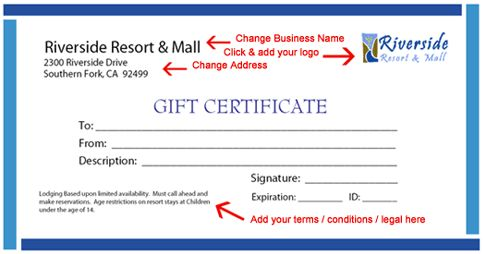 printable gift certificate template instructions t i p s - Gift Certificate Templates Free