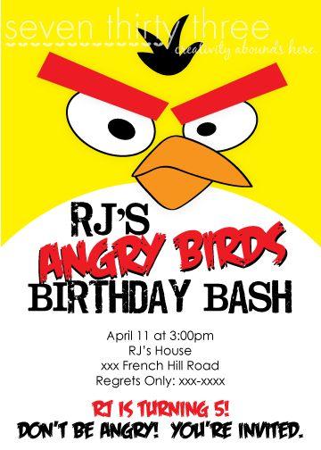 seven thirty three - - - a creative blog: Angry Birds Birthday Invitations