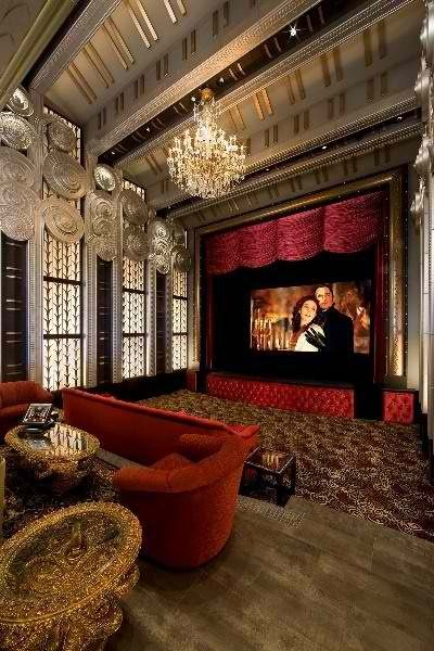 W h popcorn movie night pinterest for Luxury theatre