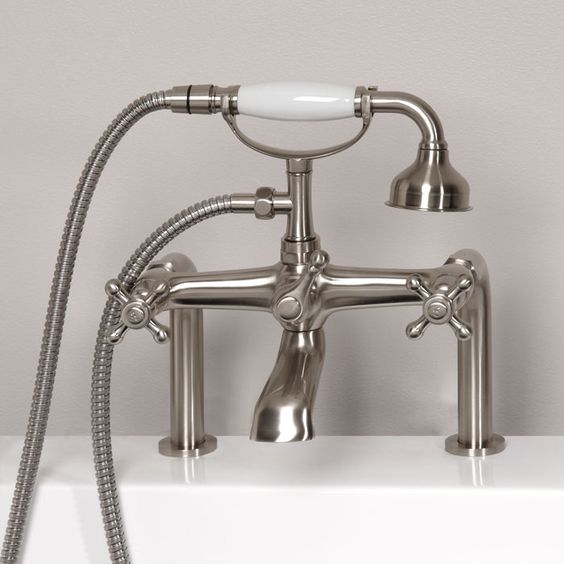 Beautiful Victorian Bathroom Faucet: Vera Deck-Mount Tub Faucet And Hand Shower
