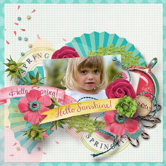 Digital Scrapbook - SAKURA COLLECTION | ForeverJoy | Cherry Blossoms perfect for Spring Scrapbooking