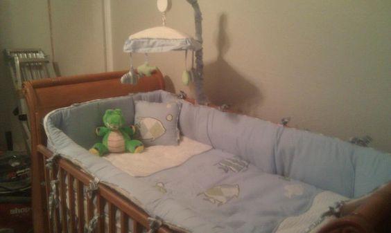 Fish themed crib bedding