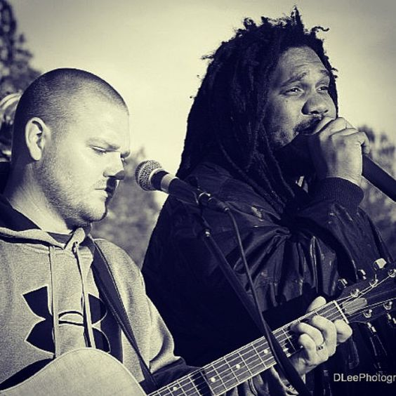 #TBT @jusproduction and @fatratdaczar performing with the #folkhopband in 2010. S/O @dleephoto24 for the great shot! @colorblindusofa was bound to happen! #colorblindnation #unity