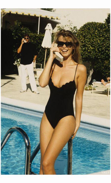 // Claudia schiffer by Ellen von Unwerth, Vogue, April 1989