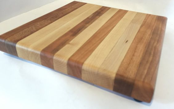 Cutting Board  Cherry and Maple Natural by Smith Custom Woodworks.  http://www.SmithCustomWoodworks.com